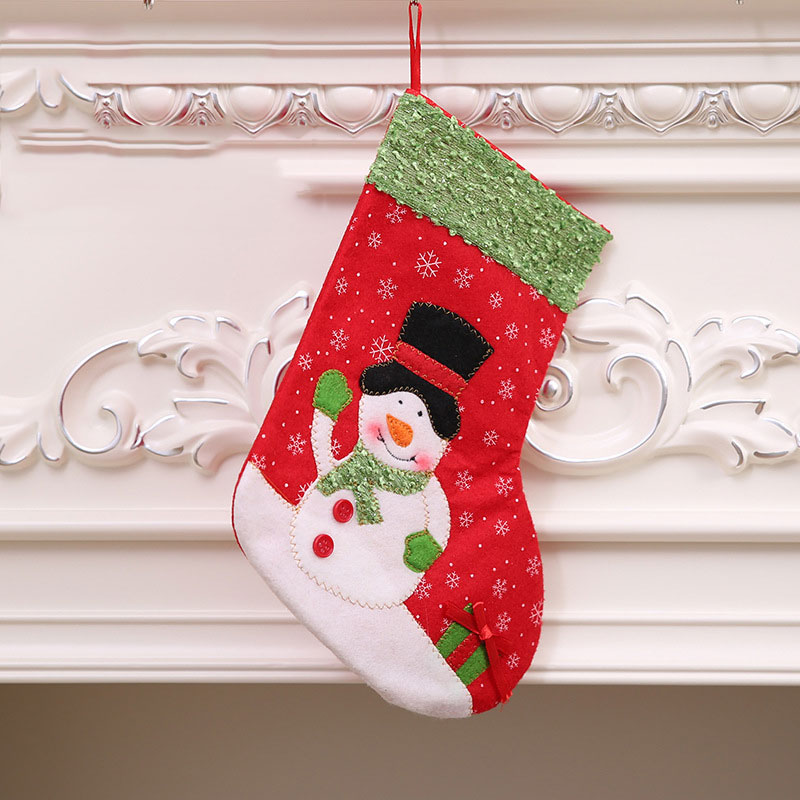2019 new year merry christmas snowflake socks decorations for home