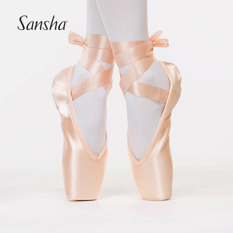 Sansha f.r.d série clássico ballet pointe sapatos com hytrel extra-forte®Sapatos de dança para meninas f. r. duval