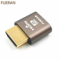 FUERAN HDMI Dummy Plug Headless Ghost Display Emulator Fit Headless 1920x1080 New Generation 60Hz 3Pack