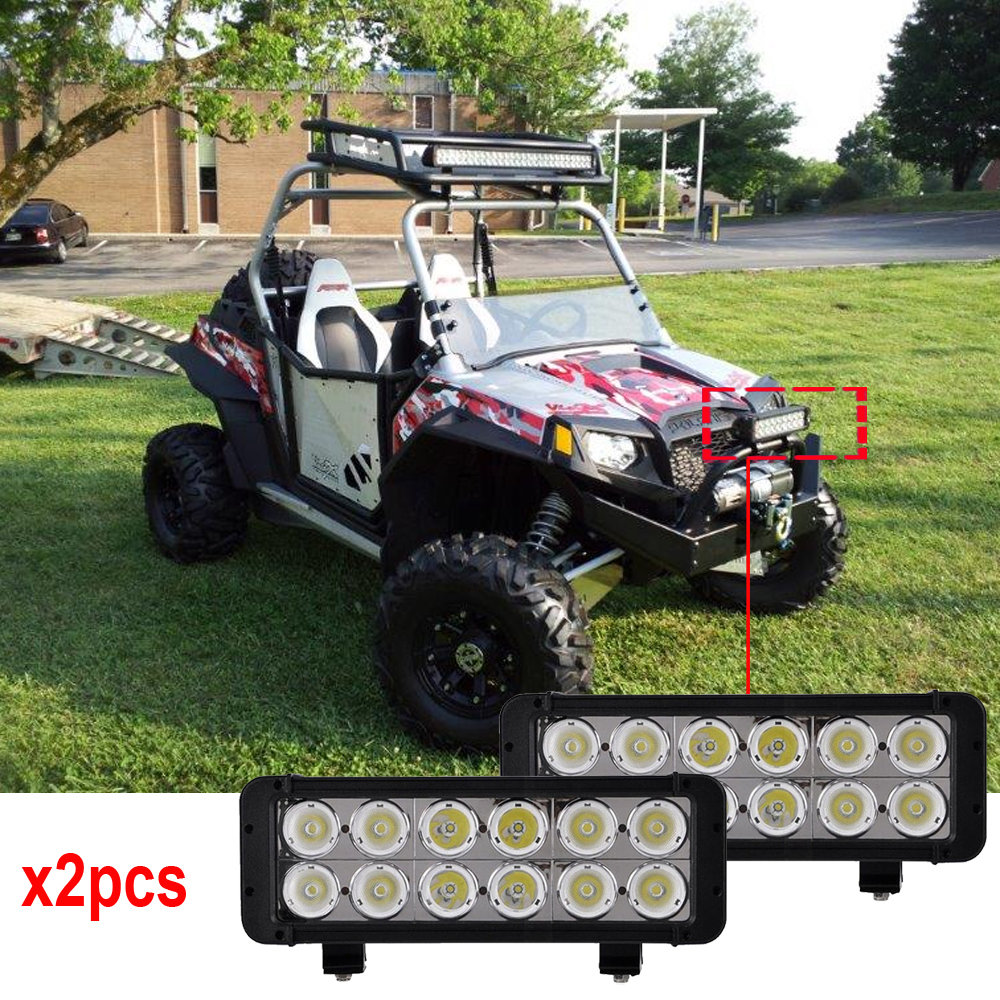 Xmitter LED Light Bar 10 degrees 12 Leds Dual Row 10W/PC XML work light bar 12V 24V led work lights 120W LED driving lights x2pc 10w led 60 degrees flood beam work light w cree xml t6 10 30v