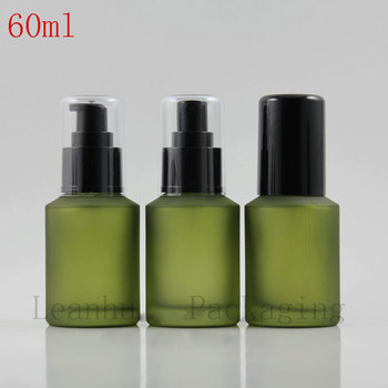 Wholesale 60ml Green Empty Perfume Spray Bottle,Empty Cosmetic Containers,Glass Spray Bottle, Cosmetic Containers And Packaging