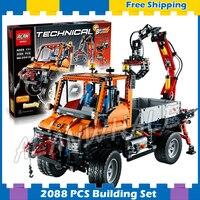 2088pcs Techinic Unimog U400 Truck 20019 DIY Model Building Kit Blocks Sets Transport Car Carrier Loader Compatible With lego
