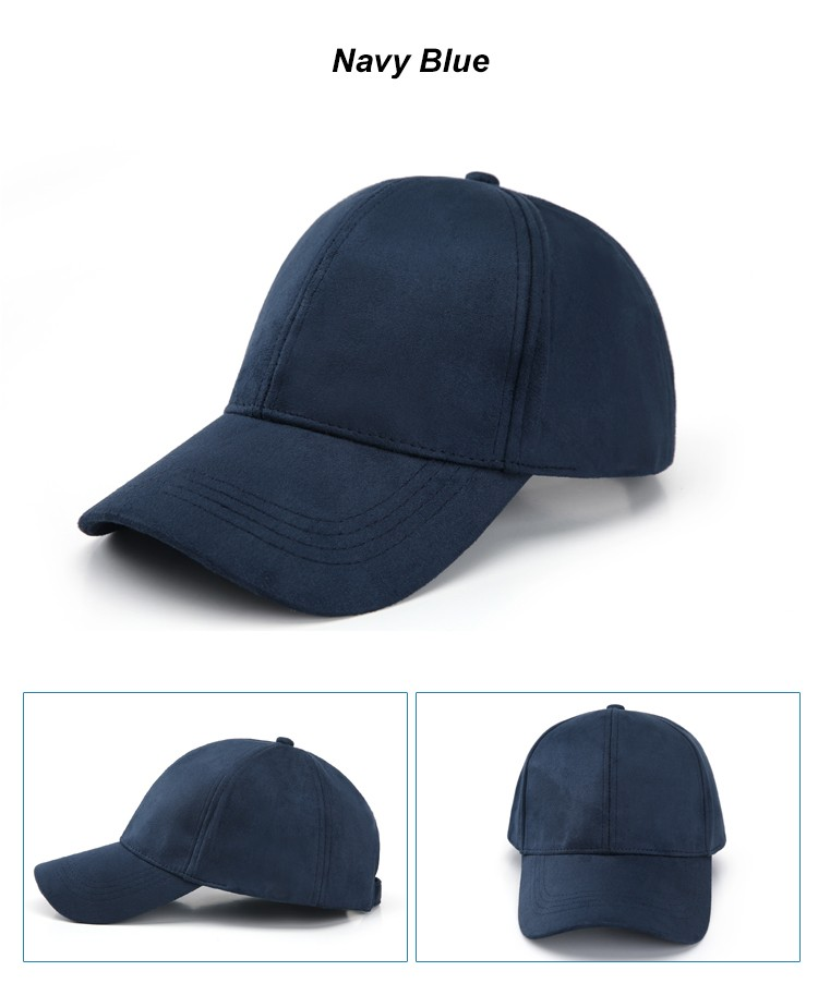 WEARZONE Unisex Soft Suede Baseball Cap Casual Solid Sports Hat Adjustable Breathable Dad Hats for Women Men 14