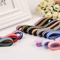 New Arrival (5 yards/lot) about 1cm width Multi Colors Stripe grosgrain ribbon printed gift wrap ribbon decoration ribbons