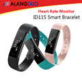 ALANGDUO ID115 Smart Bracelet Fitness Tracker Passometer Sleep Monitor Track Smart Band Watch Alarm Clock Heart Rate Monitor