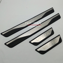 High quality Stainless Steel Door Sill Scuff Plate Welcome Pedal For LADA VESTA sw cross 2019 2018 2017 Car Styling Accessories high quality stainless steel scuff plate door sill and rear bumper protector sill for skoda kodiaq 2017 2018 2019 car styling