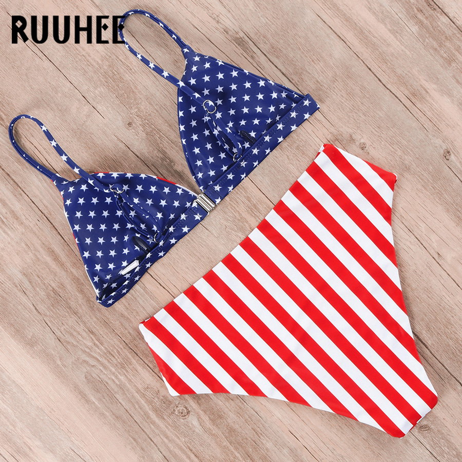 HTB1wsRwelOD3KVjSZFFq6An9pXaa RUUHEE Bikini 2019 Swimwear Women Swimsuit High Waist Bikini Set Push Up Bathing Suit Women Beach wear Maillot De Bain Biquini