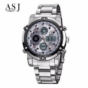 Image 5 - ASJ Horloge Mannen Sport Digitale Horloges Mannen 50m Waterdichte Klok Army Rvs Klok Mannelijke Outdoor Zwemmen Militaire Horloge relogio