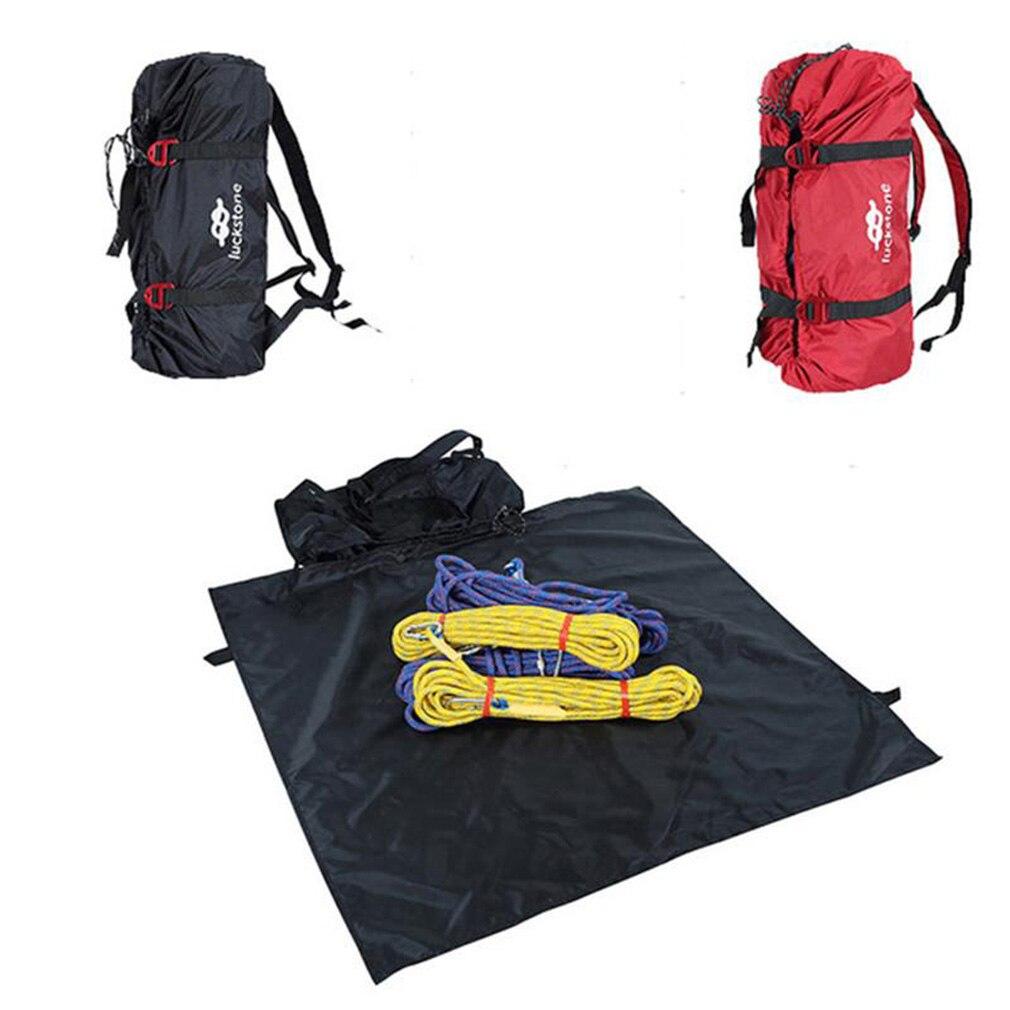 escalada corda saco cabo de transporte saco caminhadas mochila ombro dobravel portatil a prova dwaterproof agua