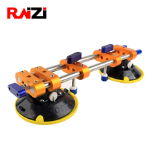Raizi Stone Seam Setter with 6 inch rubber Suction Cups for Stone slab Joining Leveling and seaming 1pc quartz stone countertops seam tools vacuum adsorption splicer stone adjustment double suction cup multi function hand tool
