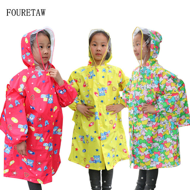 10e0bc8e5 US $21.46 |1 6 years old fashion unisex waterproof kids boys girls jumpsuit  raincoat hooded One Piece Cartoon Hooded children Raincoat Suit-in ...