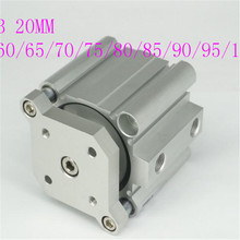 цена на smc type air cylinder CDQMB bore 20mm stroke 55/60/65/70/75/80/85/90/95/100mm compact guide rod pneumatic cylinder piston