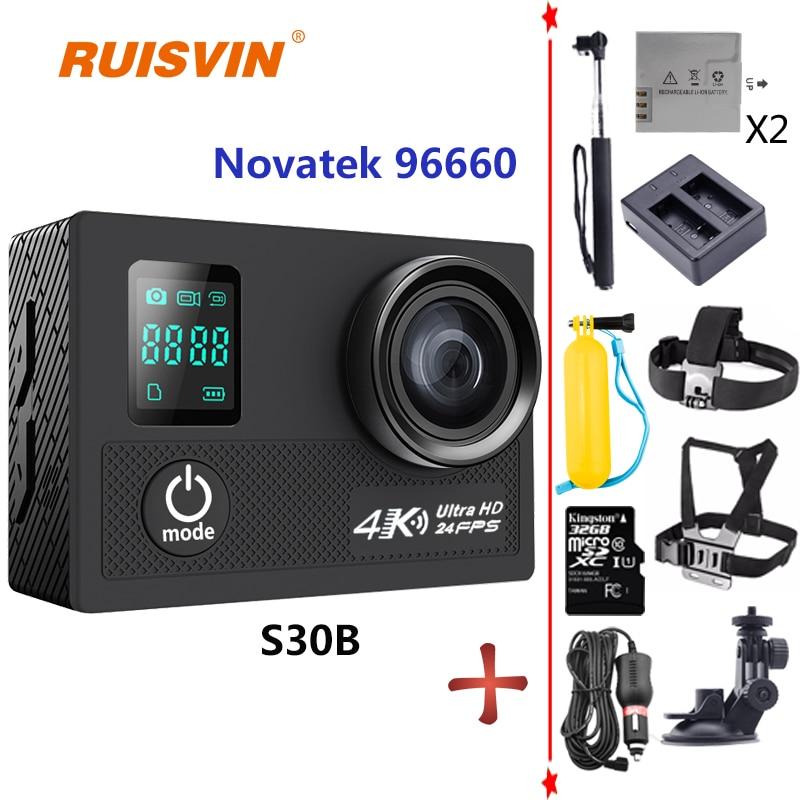 RUISVIN S30B SJCAM Style Action Camera 30M Waterproof 4K 24fps 1080P 60fps Action Cam Sport Camera Helmet Go SJ4000 SJ5000 Pro