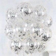 Foil Transparent Balloons with Confetti 10 pcs/Set