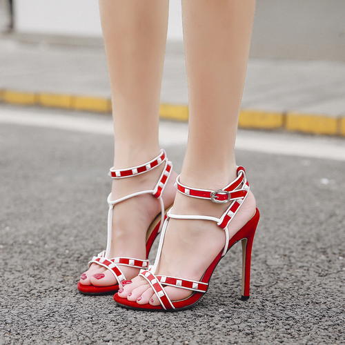 Odinokov Noir Pompes Femmes Strap Chaussures Boucle Nouveauté Peep 8nw0OkXP