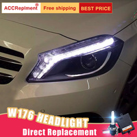 2 шт светодиодный фары для Benz класс W176 15 18 светодиодный огни автомобиля глаза ангела xenon HID комплект протовотуманная подсветка Габаритные ог