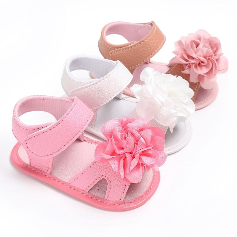 Fashion Baby Girl Sandals Baby Shoes Newborn Cotton Flower Children Sandals Summer Baby Girl Shoes