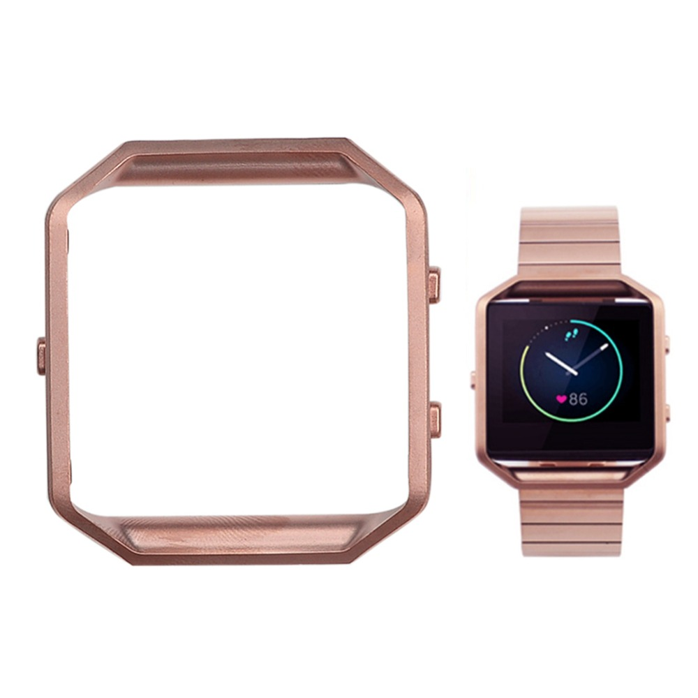 ▽Acero inoxidable pulido reloj inteligente Marcos protector ...