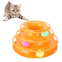 Petacc High Quality Interesting Cat Tower Toy Beautiful Cat Intelligence Toys Educational Cat Track Toy With