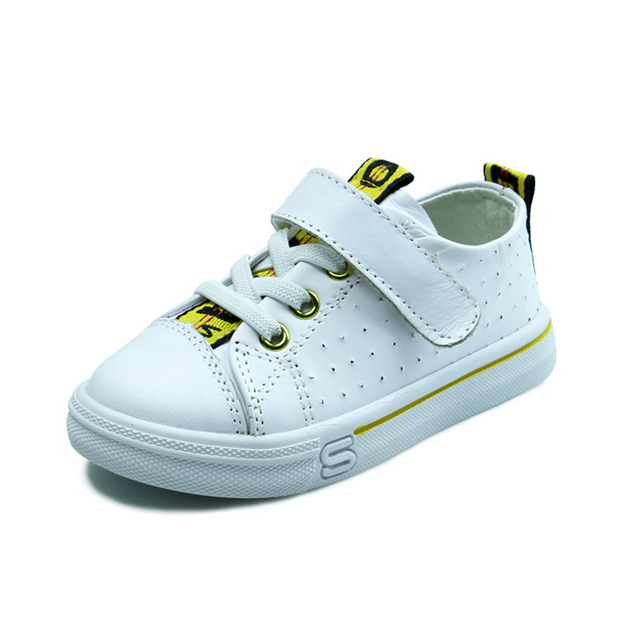 Genuine Leather Kids Shoes Girls Glowing Sneakers New Fashion Baby Big Boys  Casual Shoes Soft for Running Children Sport Shoes e6d22f8feba9