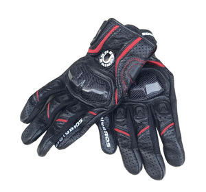 Image 2 - Free shipping UB 390 motorcycle gloves / racing gloves / carbon fiber gloves Genuine leather gloves 3color