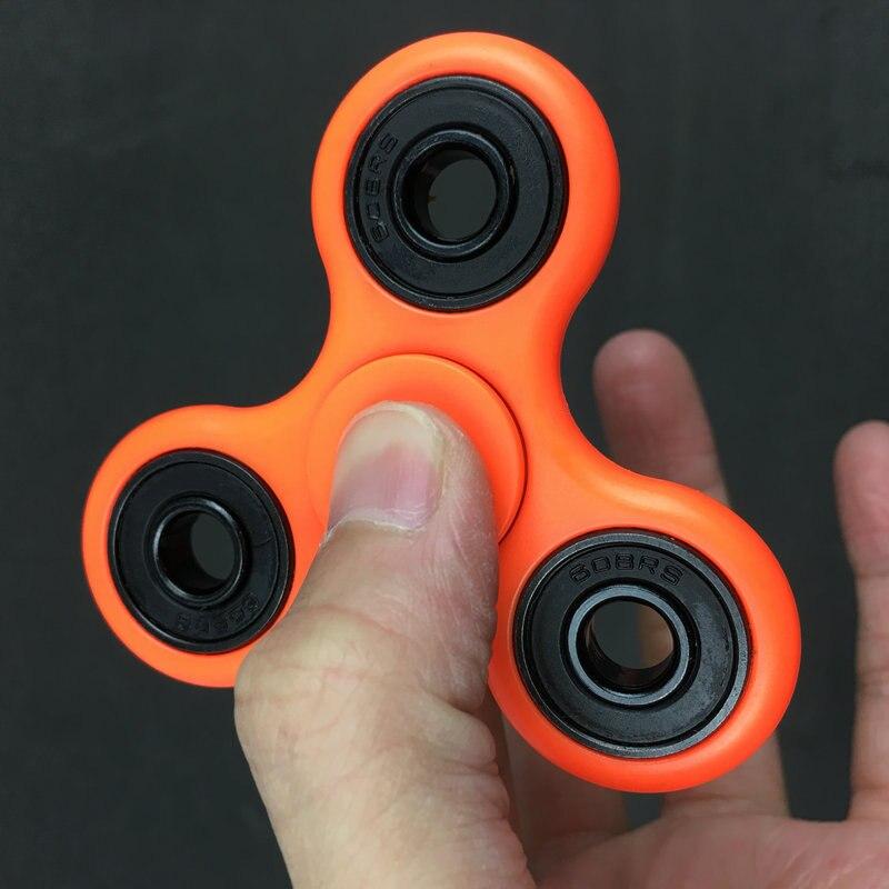 2017 Лидер продаж ручной счетчик ВДГ Tri-Spinner Для аутизма и СДВГ детей взрослых стресса игрушка время вращения Длинные антистресс