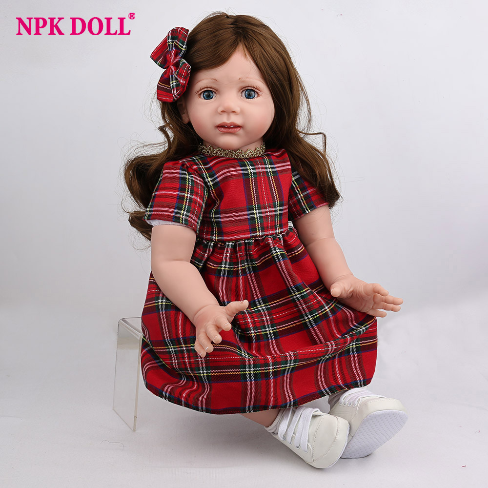 NPKDOLL Reborn Baby Doll Lifelike Newborn Girl Red Dress Christmas Style Fashion Toys Gifts Boys Kids Playmate Dollhouse NPKDOLL Reborn Baby Doll Lifelike Newborn Girl Red Dress Christmas Style Fashion Toys Gifts Boys Kids Playmate Dollhouse