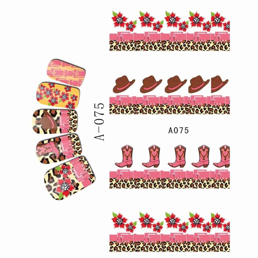 المياه صائق مسمار ملصقا كامل غطاء زهرة نرجس السحلب كاوبوي كاب الحذاء A073-078
