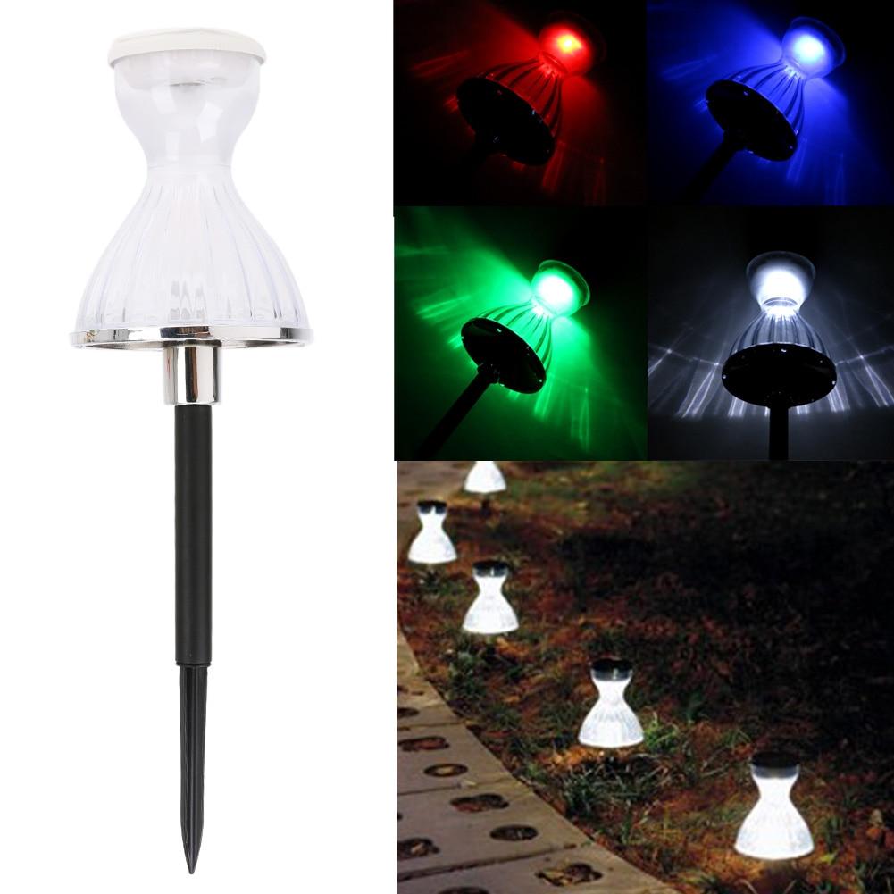 2.4V Colorful Solar Garden Light Skirt Style Solar Hard Light LED Lamp Save Energy For Garden Decoration