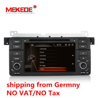 German warehouse Capacitive screen HD 1Din 7inch Car DVD for BMW E46 318 320 car dvd gps M3 3series with Navi Radio BT+8G map