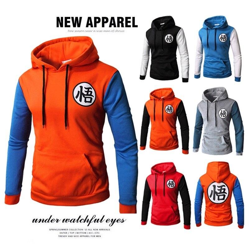 ZOGAA 2018 new 6 color New mens Wukong printed dragon ball Z hoodies dbz casual baseball pullover goku jacket S-3XL