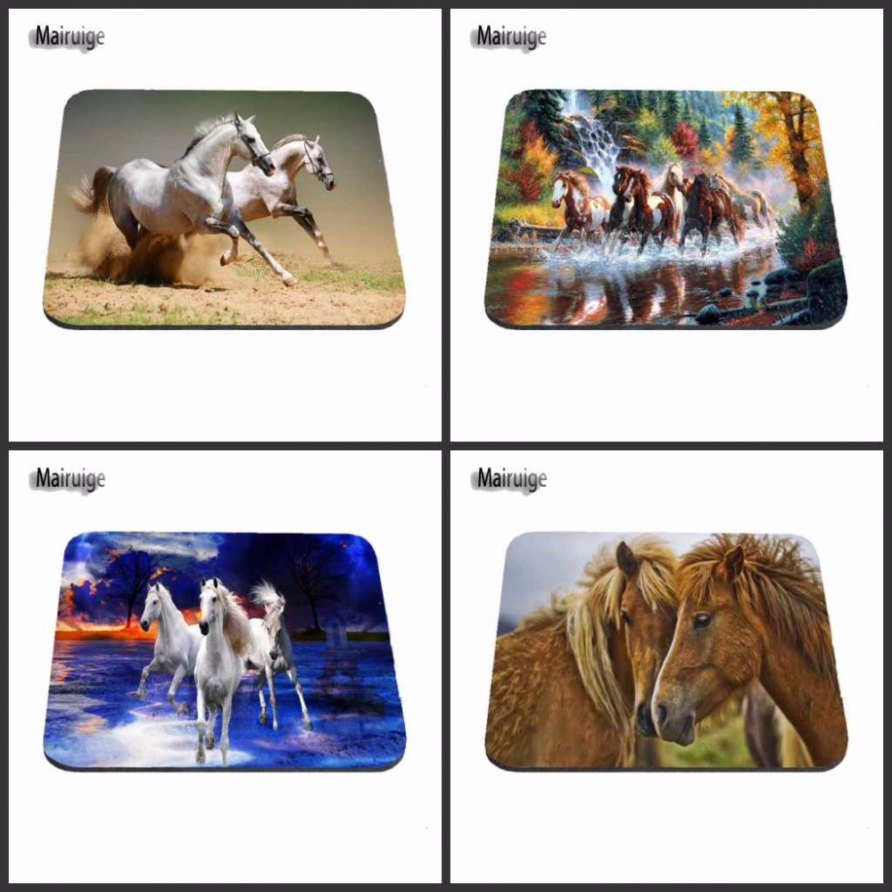 Top Quality Customized Mare and Love Horse Fans Gift Game Gaming Durable Mouse Mat PC Computer Mouse Pad Laptop Mat to Mouse