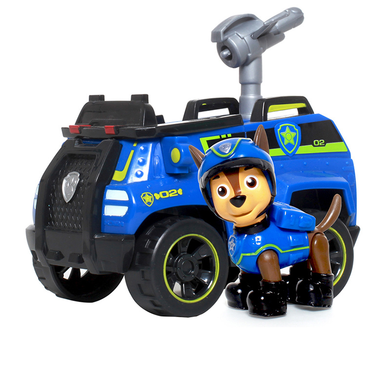Genuine Paw Patrol Dog Toys Car Set Tracker Patrulla Canina Rescue Sets Anime Action Figures Canine PVC Toys Of Children Gift in Action Toy Figures from Toys Hobbies