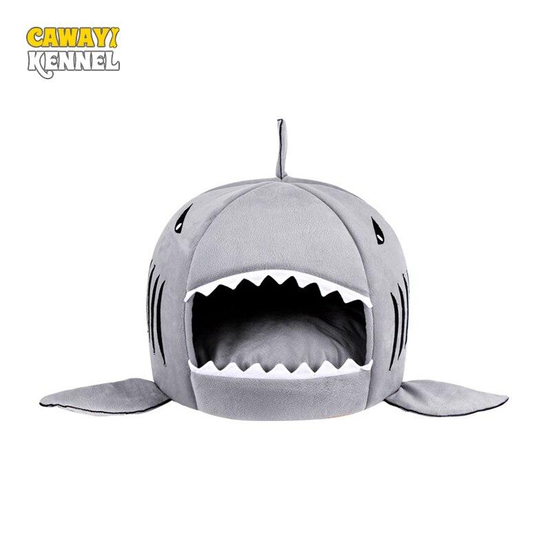 CAWAYI KENNEL Weichen Shark Form Pet Hund Katze Bett Welpen Häuser Lovery Warm Doggy Zwinger D0023