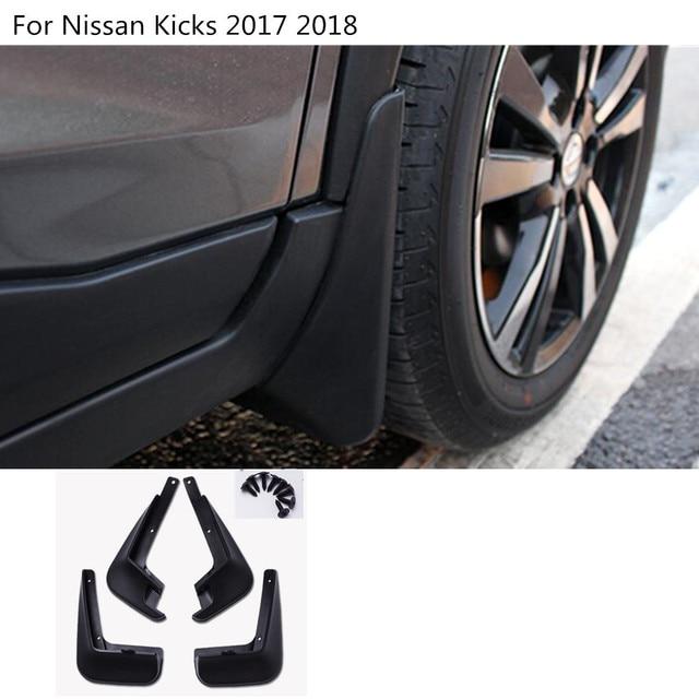 Mud Flap (Para Barro) Kicks Car-cover-plastic-fender-soft-mudguard-protect-flap-splash-mud-guard-frame-4pcs-For-Nissan-Kicks.jpg_640x640