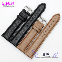 The fine lines strap leisurely natural calfskin leather strap 20 22 mm high quality black brown
