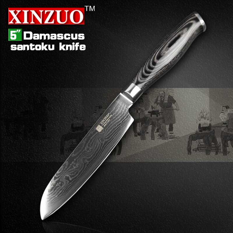 XINZUO 5 Japanese chef knfie 73 layers VG10 Damascus steel kitchen font b knives b font