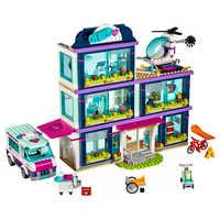 Amici Citys Heartlake Ospedale Città Figura Compatibile Con Gli Amici 41318 Blocchi di Costruzione di Mattoni Giocattoli Di Natale Per I Bambini