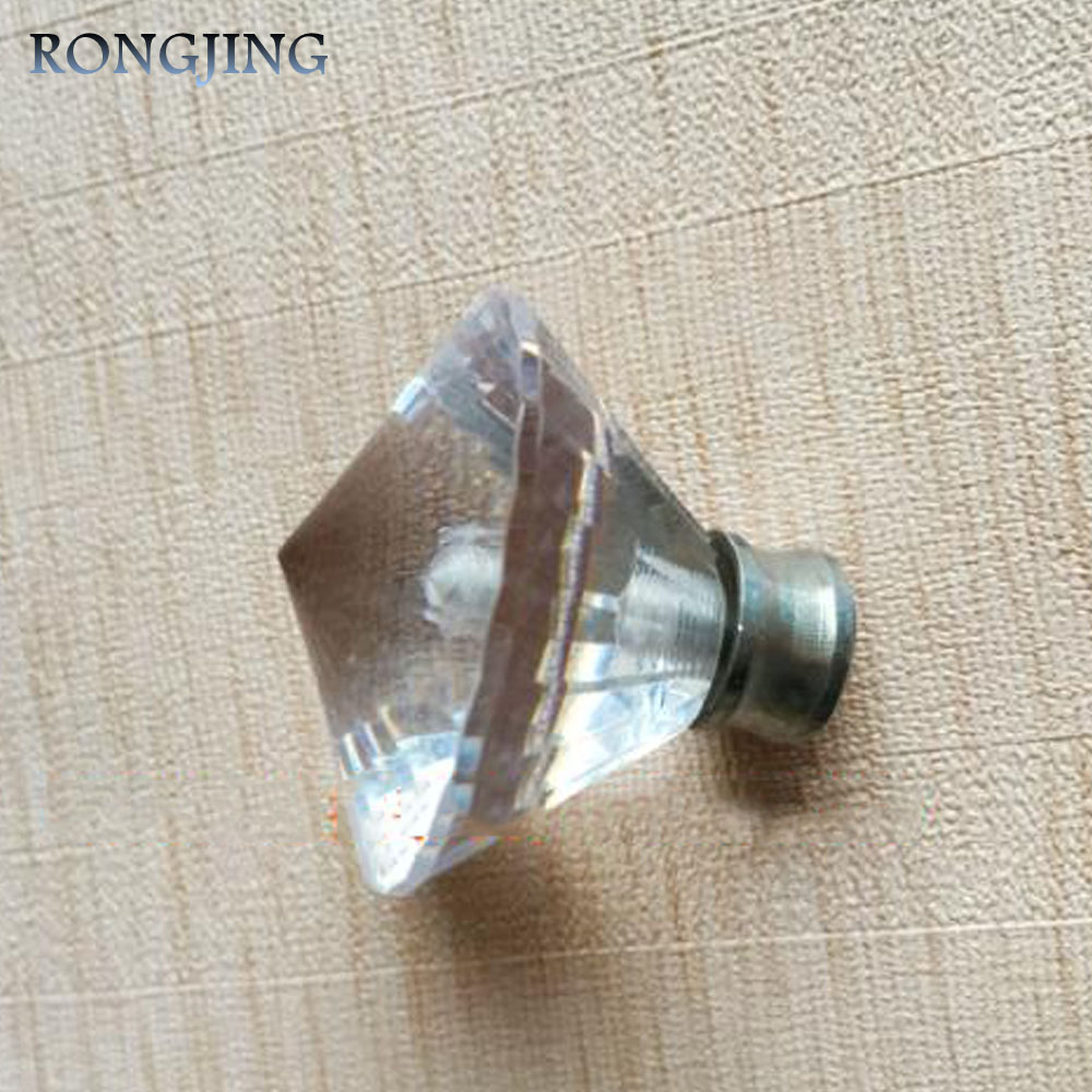 4pcs Diamond Cabinet Drawer Knobs Cupboard Handle Dresser Knob Kids Furniture Kitchen Cabinet Knobs Wardrobe Closet Pulls