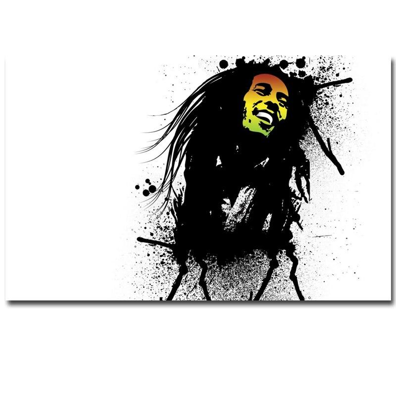 Bob Marley sonrisa Cara con Camisas lienzo pintura abstracta retrato ...