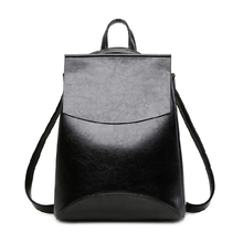 Women Casual Backpack Large Capacity Split Leather Shoulder Bag Female Multifunctional Backpack Fashionable School Bags
