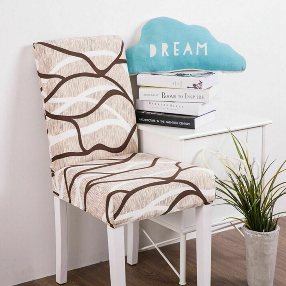 Removable Stretch Chair Covers Slipcovers Dining Room Stool Seat Cover Decor