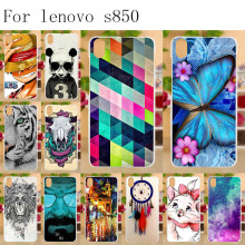Anunob Lenovo S850 Case Silicon Tiger Cat Painting Soft TPU Back Cover for Lenovo S850 S850T S 850 Phone Cases Shell Bumper стоимость