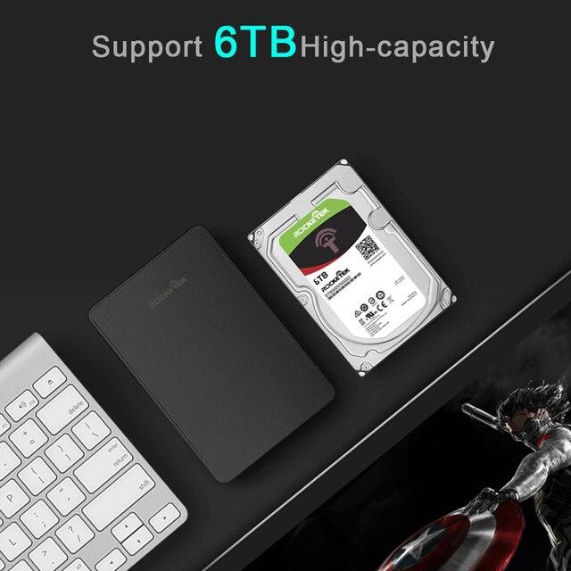 Rocketek HDD Case 2.5 inch SATA to USB 3.0 SSD Adapter Hard Disk Drive Box External HDD Enclosure for Notebook Desktop PC 2