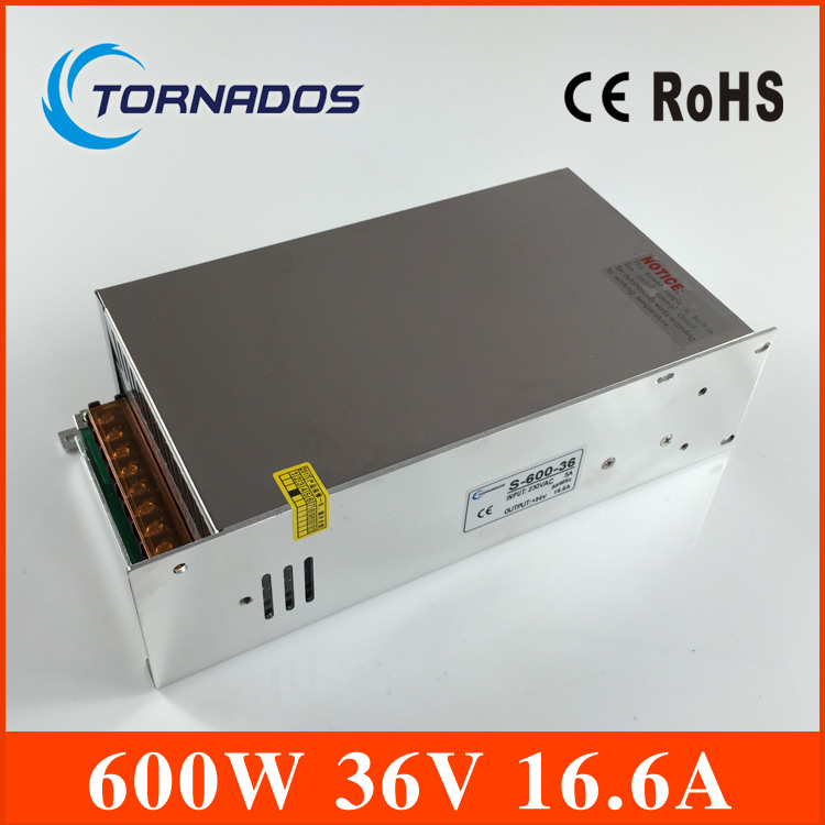 S-600-36 led power supply 600W 36v ac dc converter Input 110v or 220V variable dc voltage regulator цена и фото
