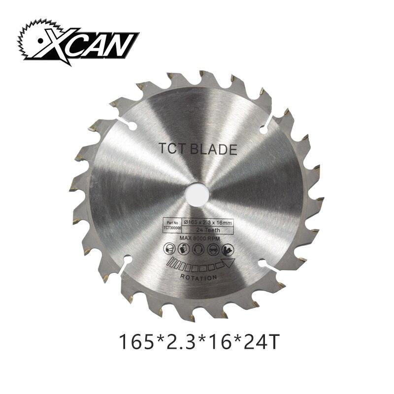 XCAN 1PC 165*2.3*16mm 24Teeth TCT Circular Saw Blade For Cut Wood Plastic Acrylic TCT Woodworking Saw Blade