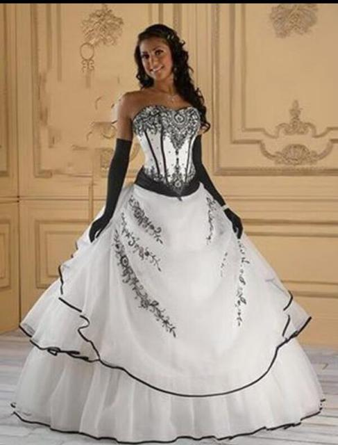 Beautiful Black And White Corset Wedding Dresses Photos - Styles ...