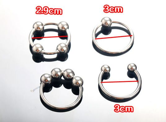 3pcs different form Stainless steel penis ring penis delay penis loop lock rings sex toys sex toys for man
