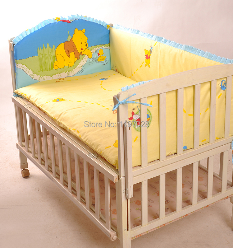 hot sale baby bedding set 100 cotton curtain crib bumper baby cot sets baby bed bumper free. Black Bedroom Furniture Sets. Home Design Ideas