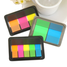 1Pack/lot Fluorescence Color Stick Markers Book Page Sticky Notes Pad